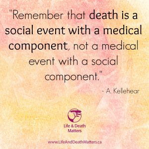 quote - death is a social event