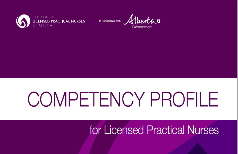 competency profile for LPN in Alberta