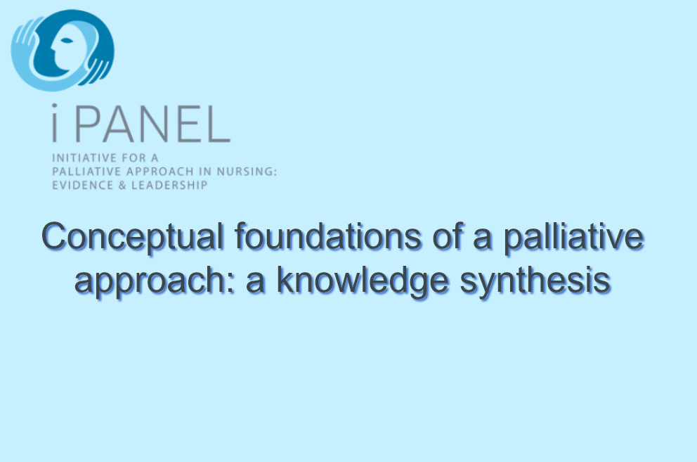 Conceptual foundations of a palliative approach: a knowledge synthesis
